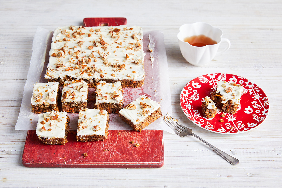 No-cook carrot cake bars
