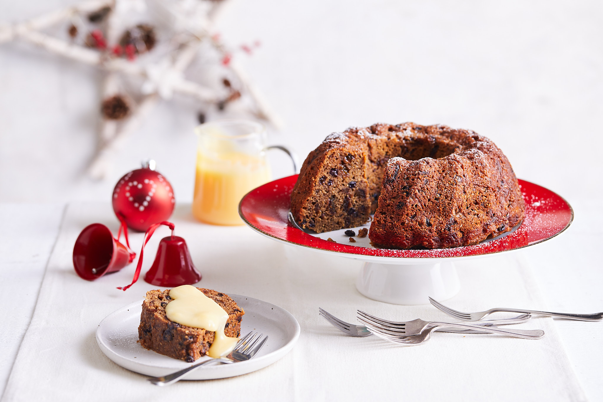 Baked Christmas pudding