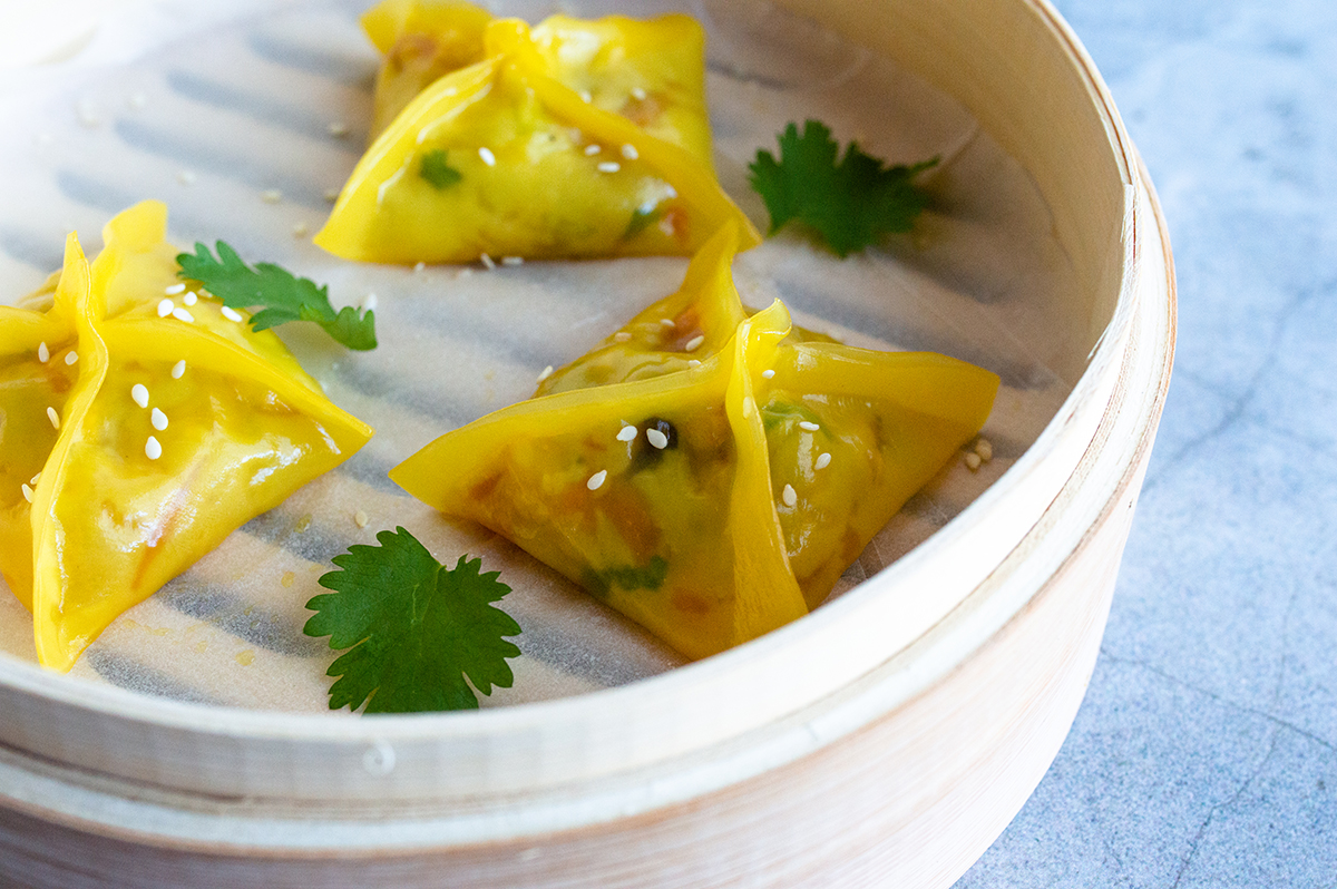 Chinese vegetarian dumplings