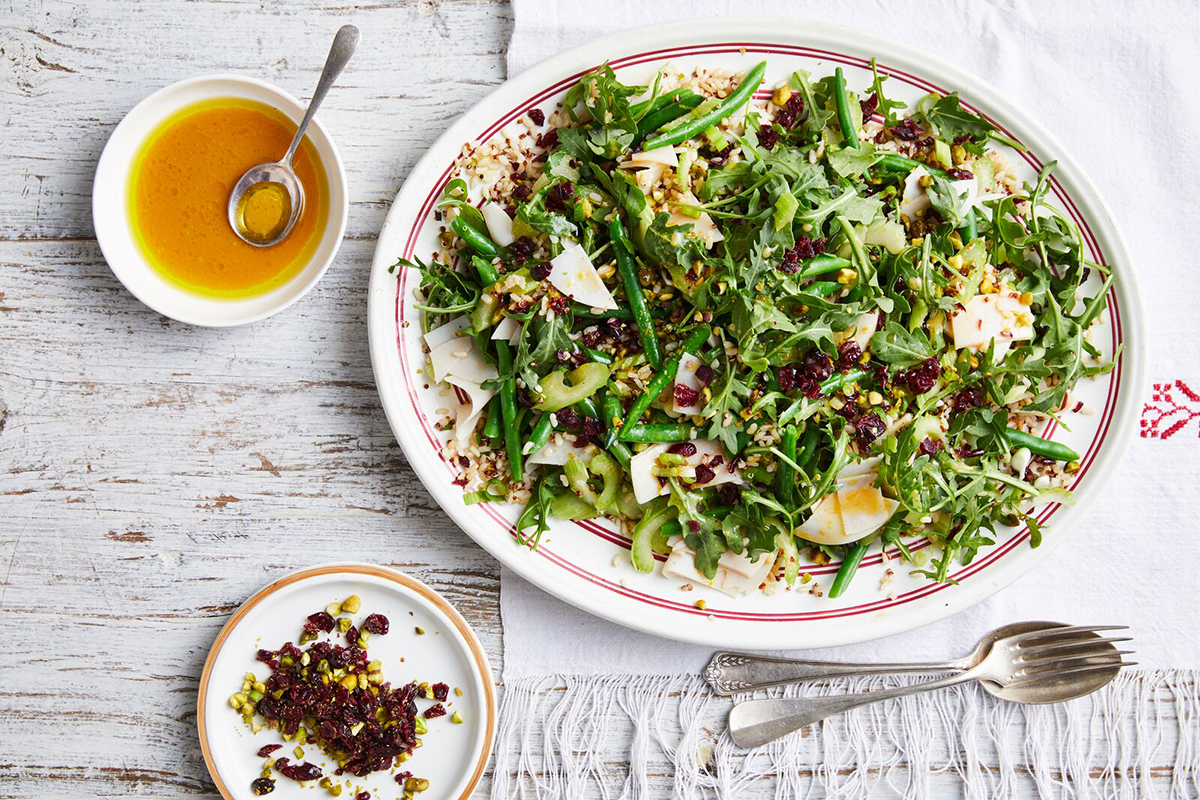 Turkey and cranberry rice salad