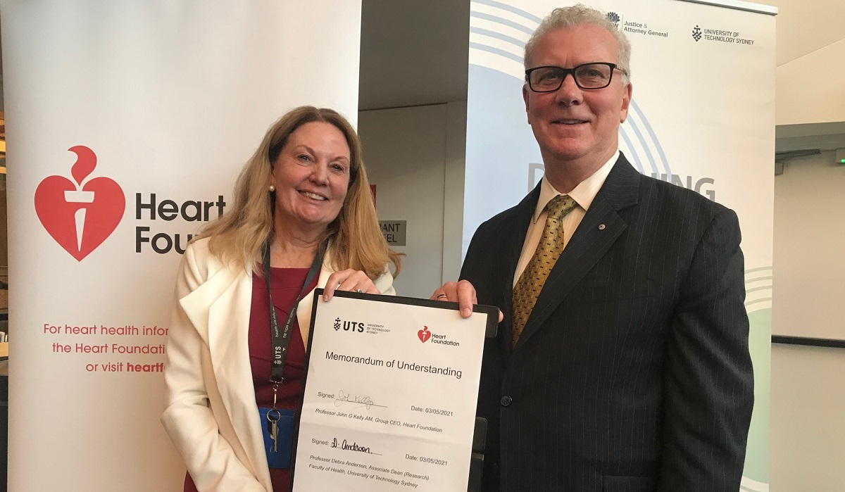 Heart Foundation and UTS team up to improve heart health