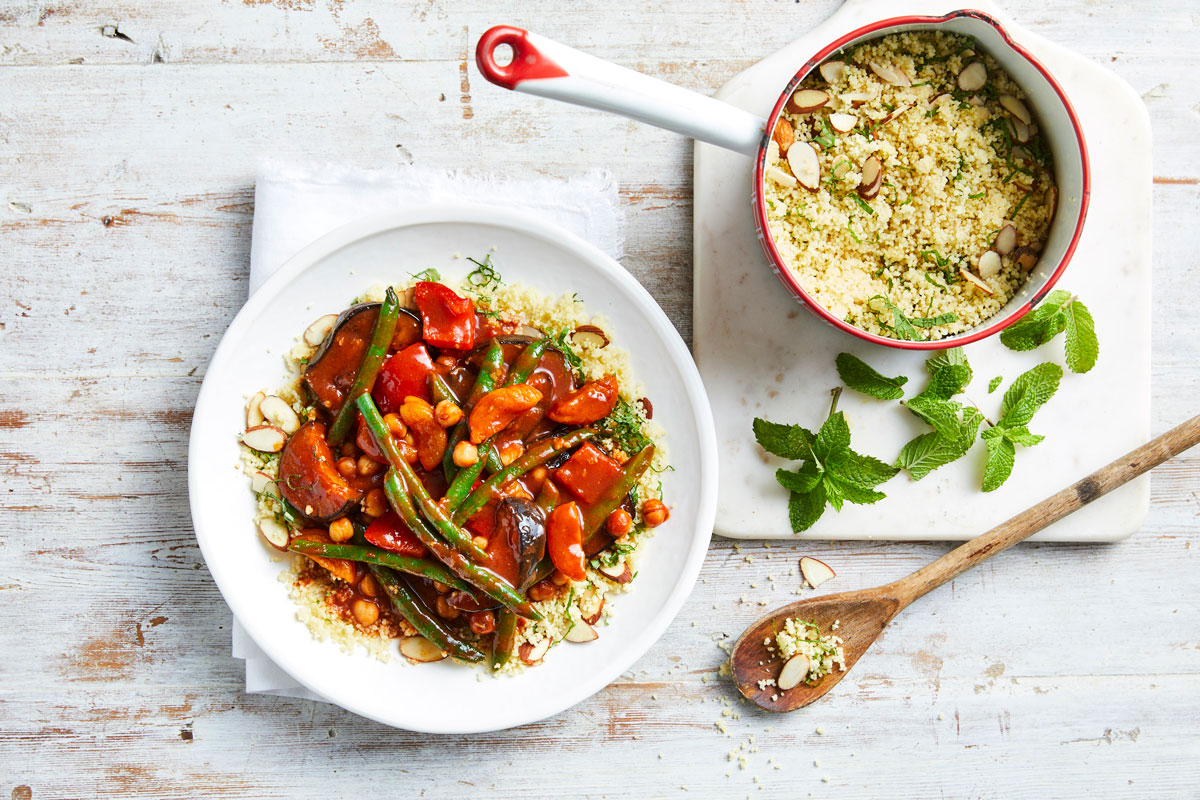 Vegetable Tagine with Almond Couscous