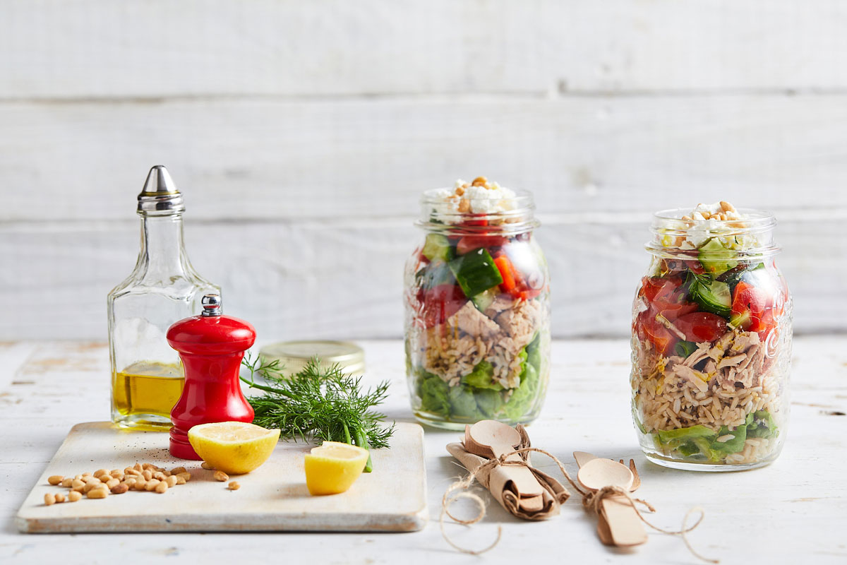Greek tuna salad jars