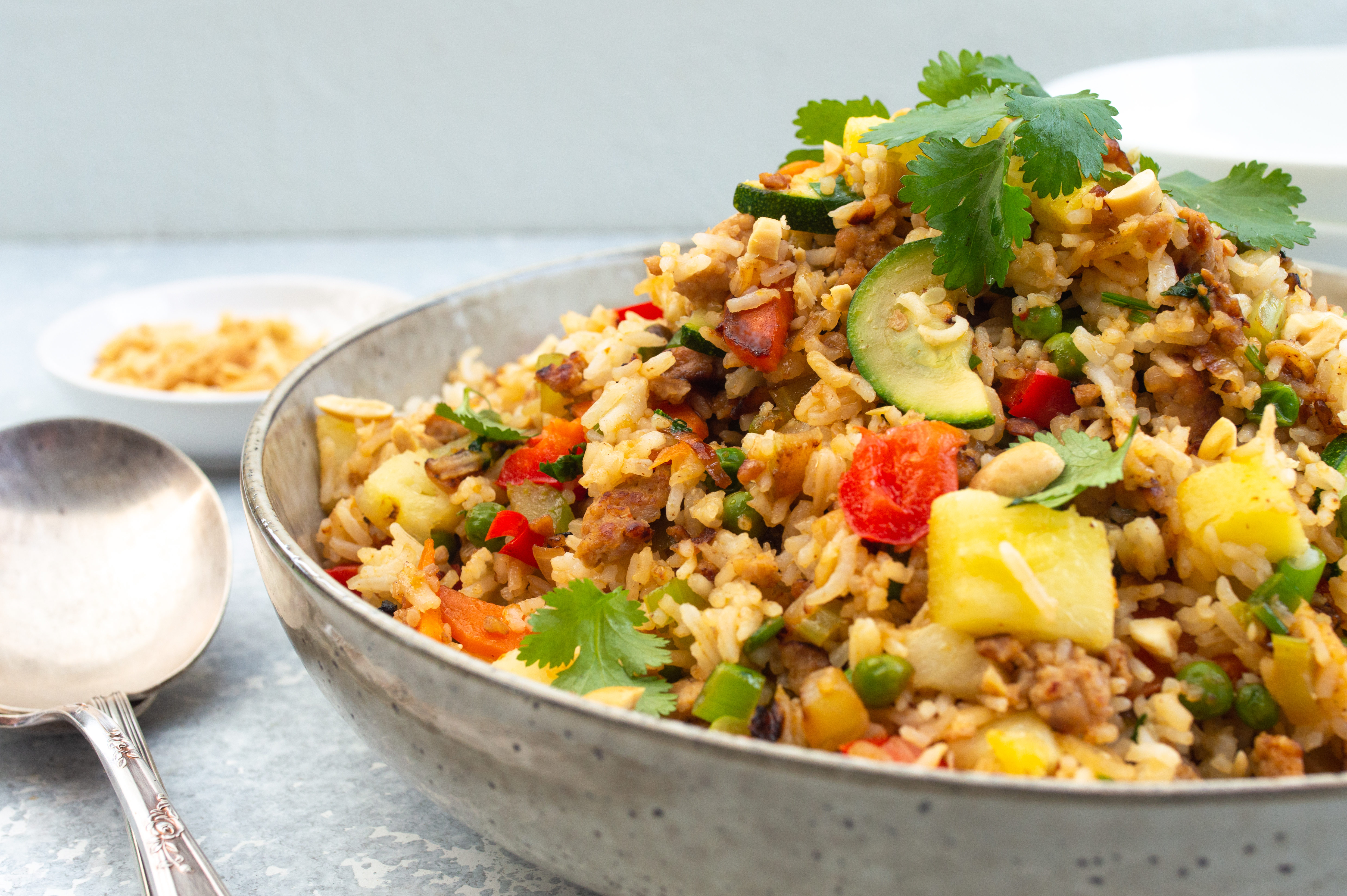 Pork and pineapple fried rice